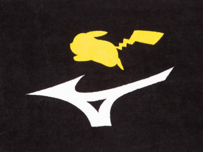 ピカチュウのシルエットと「MIZUNO」のロゴのデザイン