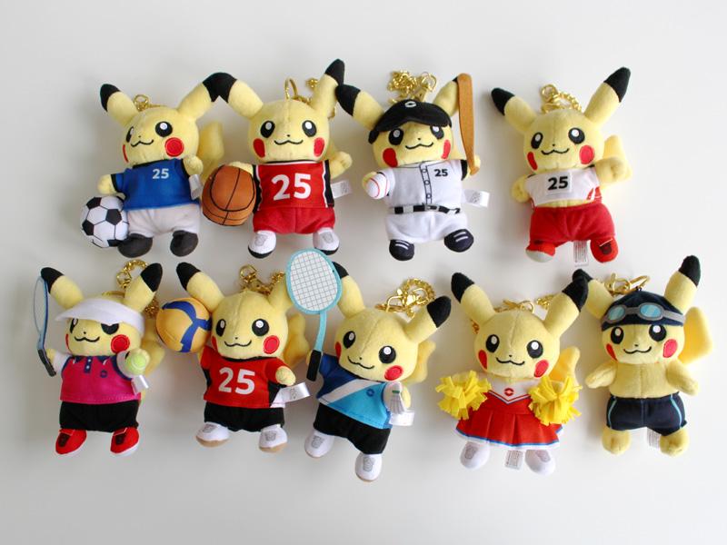 """<strong class=""""em """">「マスコット Pokemon SPORTS」</strong>(左上から:サッカー/バスケットボール/野球/陸上競技/テニス/バレーボール/バドミントン/チアリーディング/水泳)/価格:各1,320円(税込)"""