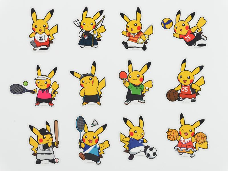 "<strong class=""em "">「ダイカットステッカー Pokemon SPORTS」</strong>(左上から:陸上競技/弓道/ラグビー/バレーボール/テニス/水泳/卓球/バスケットボール/野球/バドミントン/サッカー/チアリーディング)/価格:各330円(税込)"
