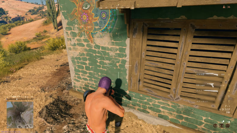 窓やドアはすべて片側ずつ開けることができる