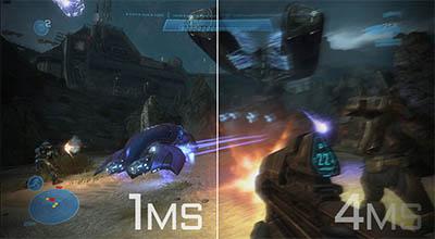 1msという超高速な応答速度により、滑らかな映像のゲーム体験を楽しむことができる