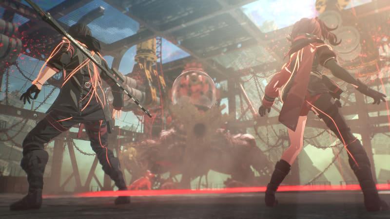 プレイデモの最後に登場するボス。天井につり下がった巨大パイプを落としながら戦うというギミックバトルだ