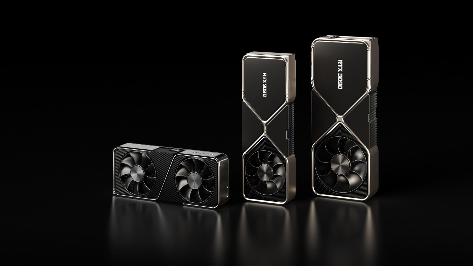NVIDIAが発表したGeForce RTX 30シリーズ、GeForce RTX 3090、GeForce RTX 3080、GeForce RTX 3070の3つの製品ラインナップが用意されている