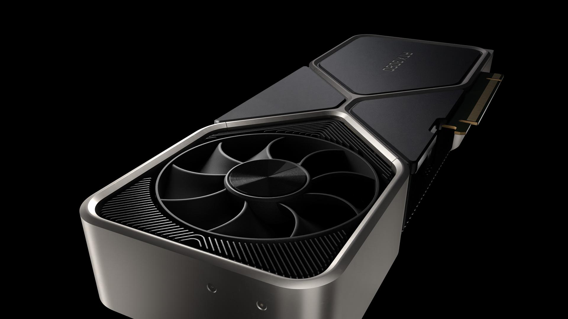 GeForce RTX 3080は売れ筋と考えられている製品。2スロットで長さはGeForce RTX 2080 Tiの266.74mmからやや長くなっている。9月17日に699ドルで販売開始予定、日本では109,800円という予価がアナウンスされている(出典:NVIDIA)