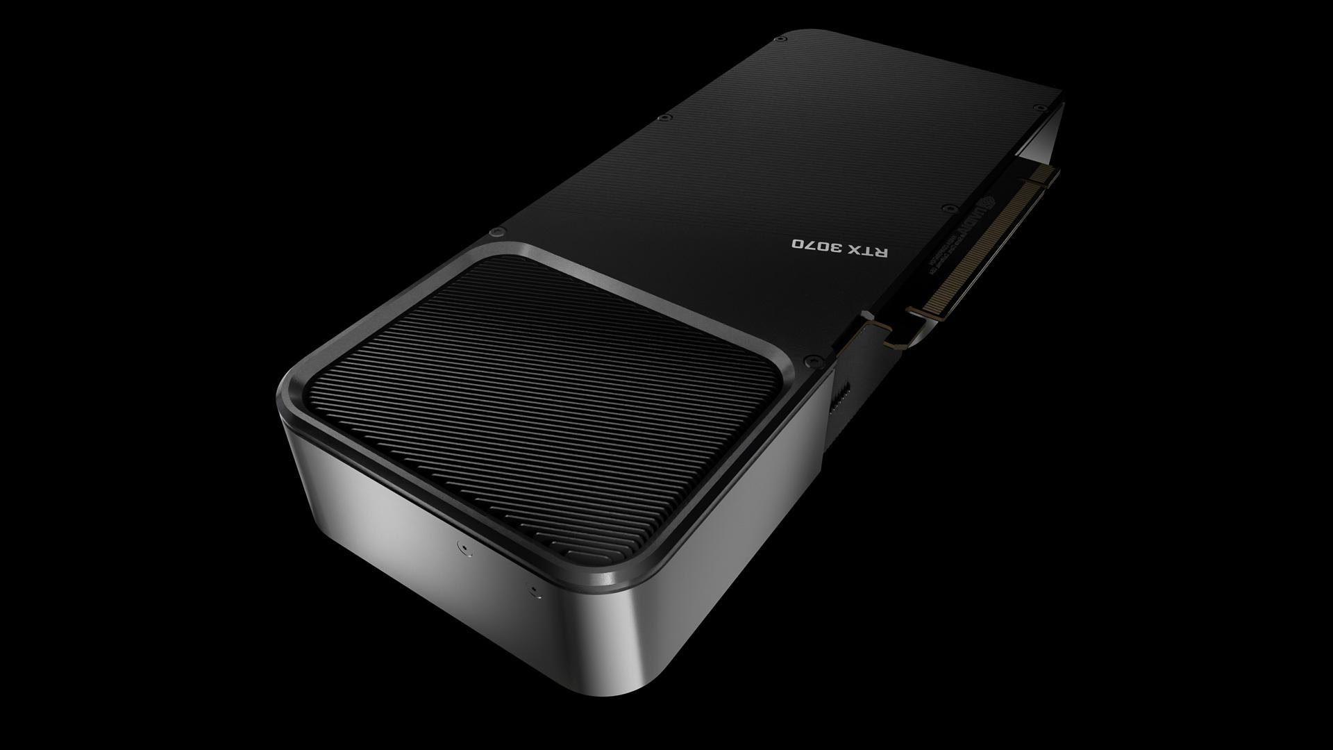 GeForce RTX 3070は30シリーズの中では一番の廉価版。10月に販売開始の計画で499ドル、日本では79,800円という予価になっている(出典:NVIDIA)