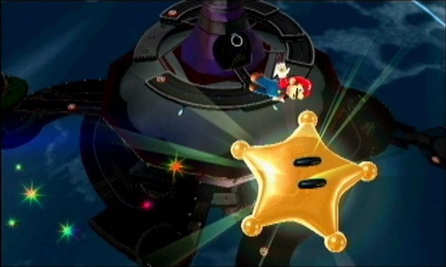 宇宙を飛び回るビジュアルも、デバイスを振ったり、回したり、傾けたりしてマリオを動かす操作感も斬新だった