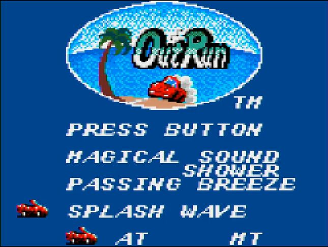 ゲーム開始時に、ATまたはマニュアルのいずれかを選択することができる