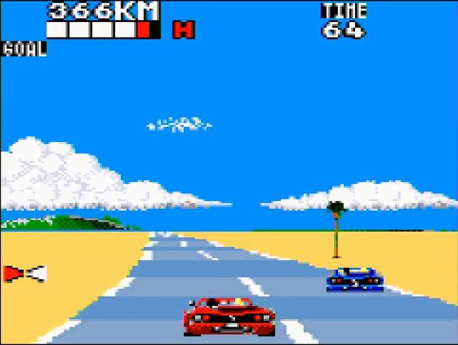 CPUの車と1コース限定で勝負する「バーサスコンピューター」モード。コースの暗記に利用するといい
