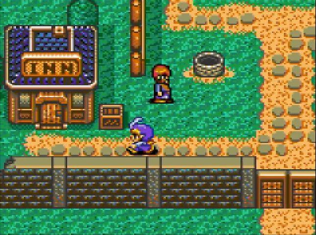 バトルパートで勝利を収めると、町や村の探索パートに移行。住民などと会話をすると仲間が増えることもある