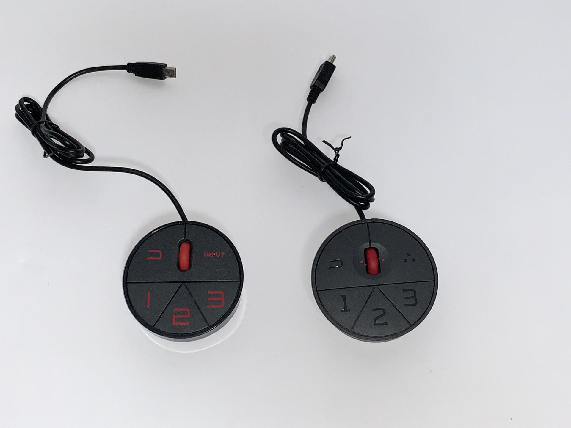 左がXL2546、右がXL2546KのS.Switch。文字に色を引いてあるのが旧バージョン