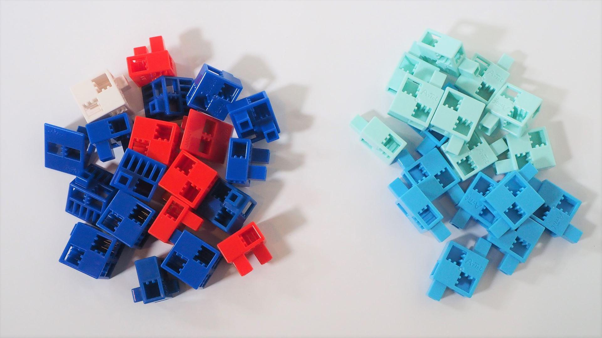 さまざまなブロックパーツ。「アーテックブロック」として単体でも販売されている