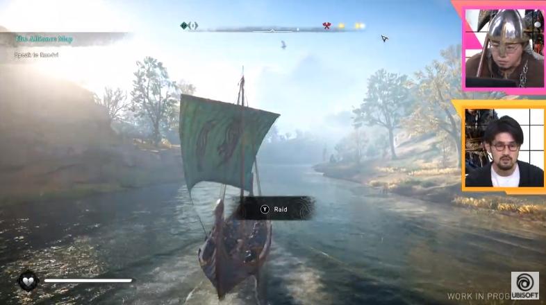 船の帆には2匹のカラス。モチーフとしてはメジャーなもので、北欧神話の主人オーディンに従う2匹のカラス「フギン」と「ムニン」が由来