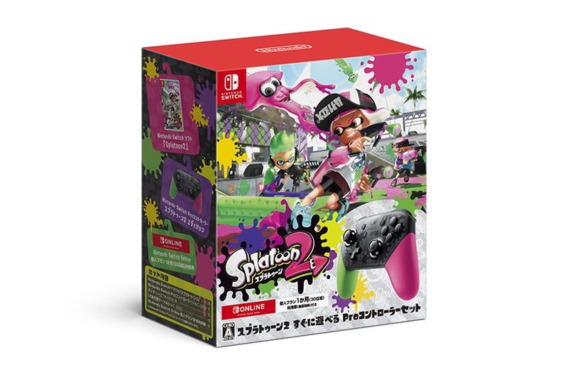 セットに同梱されている「Nintendo Switch Proコントローラー スプラトゥーン2エディション」