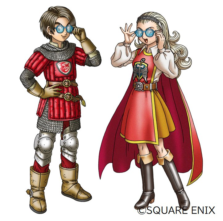 メガネを掛けた冒険者エックスと勇者姫アンルシア