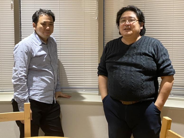 代表取締役社長 秋山隆利氏(右)と取締役 松本恒彦氏(左)