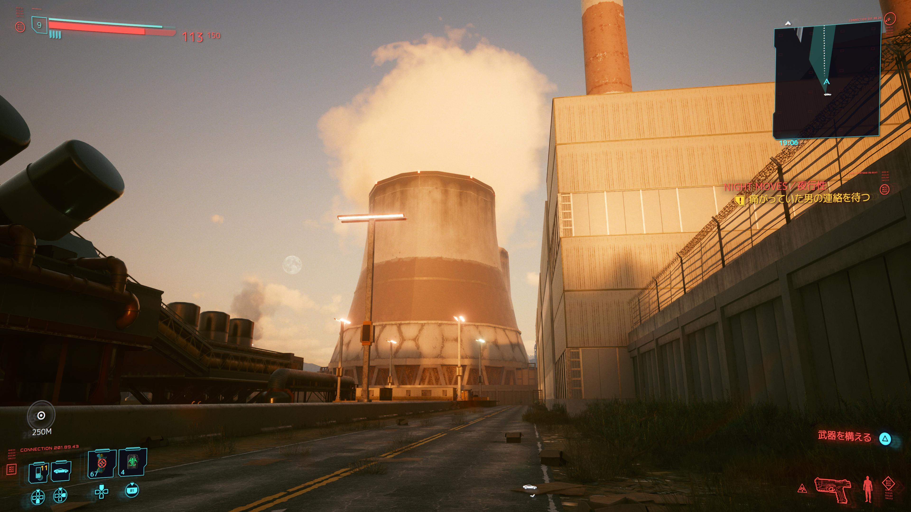 地域北側は巨大な発電所や工場がある