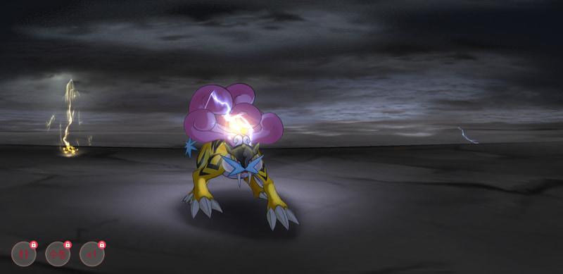 それぞれのポケモンに特有のアニメーションが用意されている本格っぷり