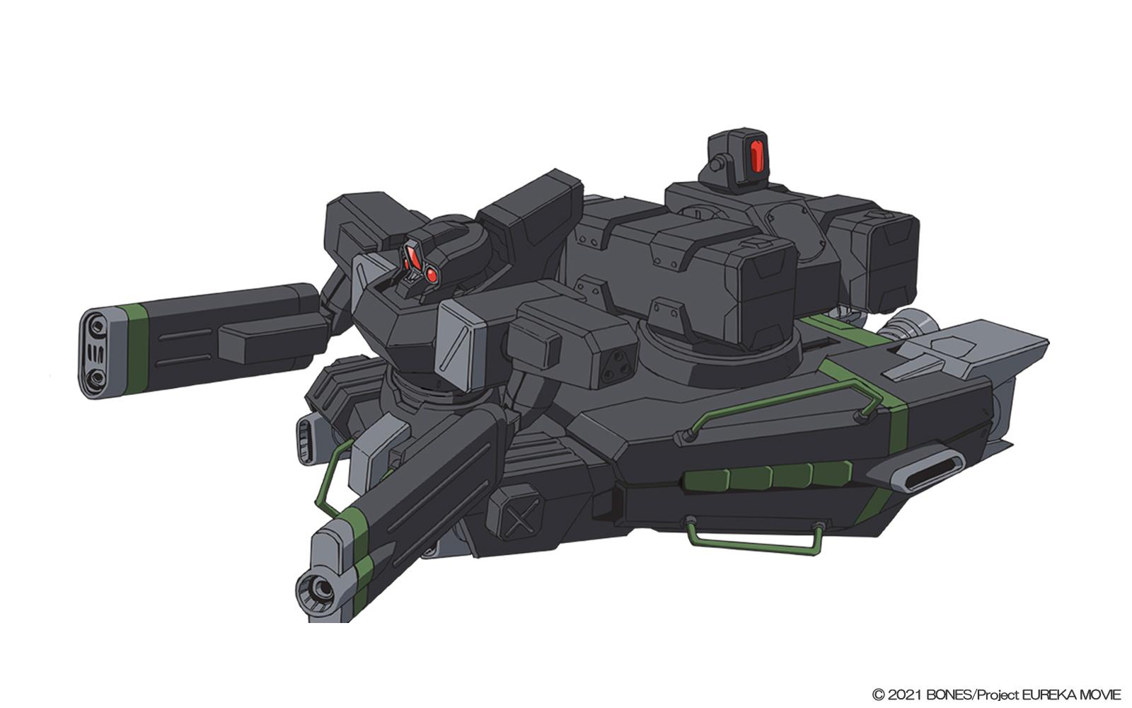 現在主力として使われているKLF。下半身がまるごとジェットエンジンになっており、空中戦に特化している。指揮官機は両腕がガンランチャーになっており、エンジン上部にはミサイルランチャーを搭載している