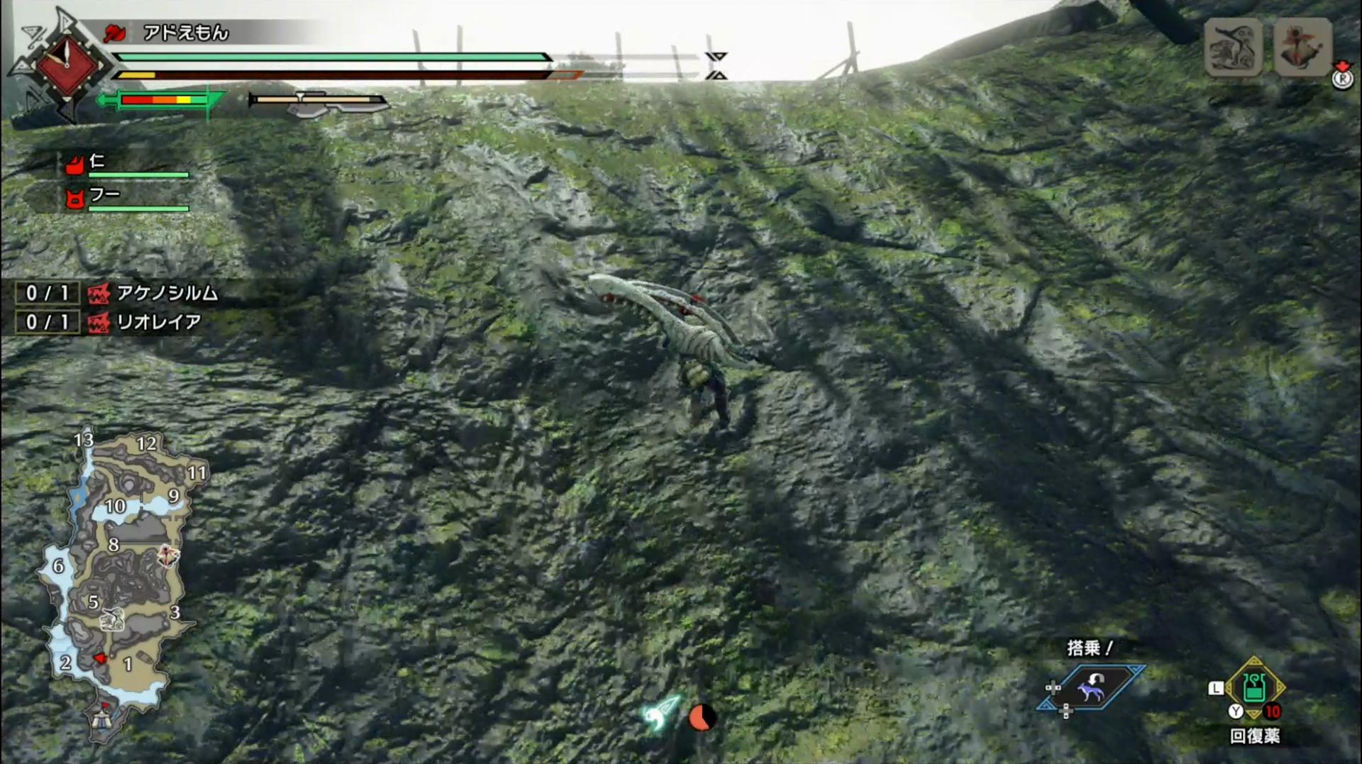 「疾翔け」で壁に張り付けばそのまま壁を走り回る「壁走り」に繋げられる。これによって高い段差や崖も軽々超えることが可能なのだ