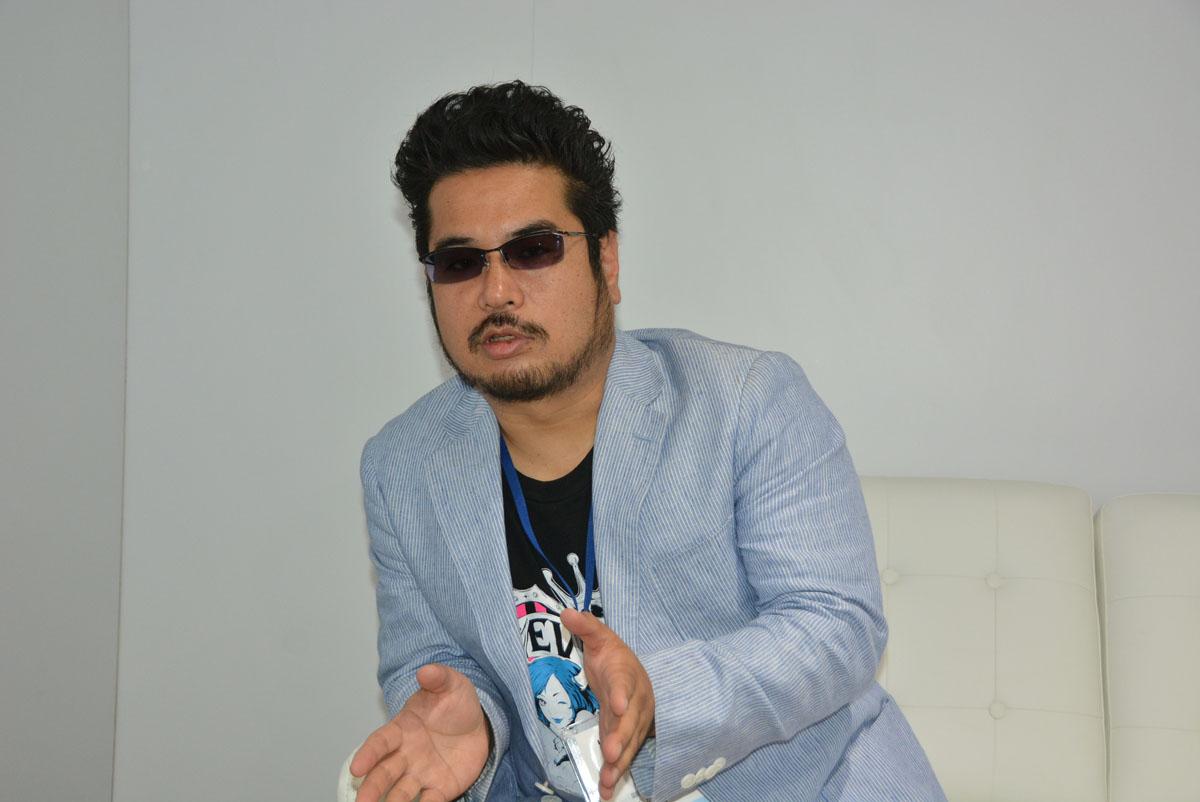 写真は2016年のE3会場でのインタビュー時のもの