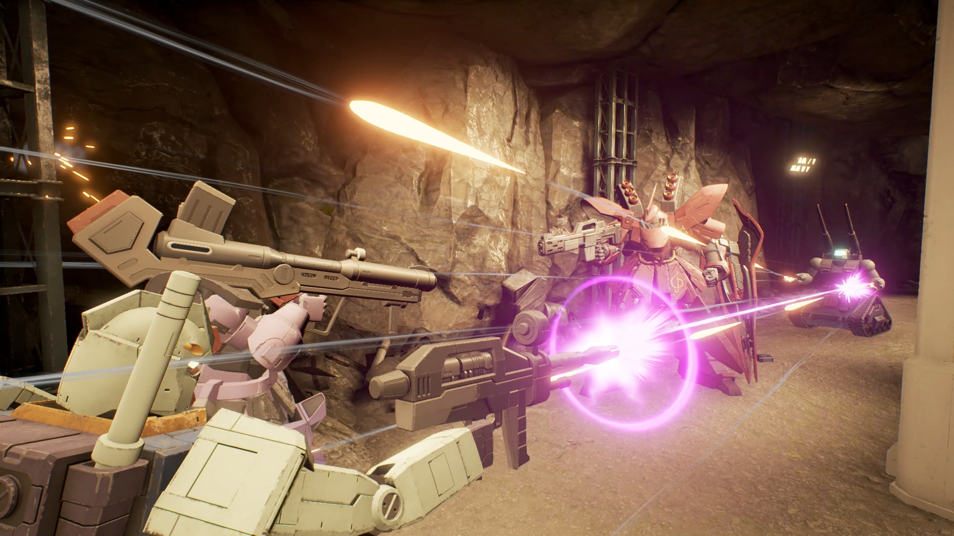 弾幕で強力な後方支援ができるガンタンク