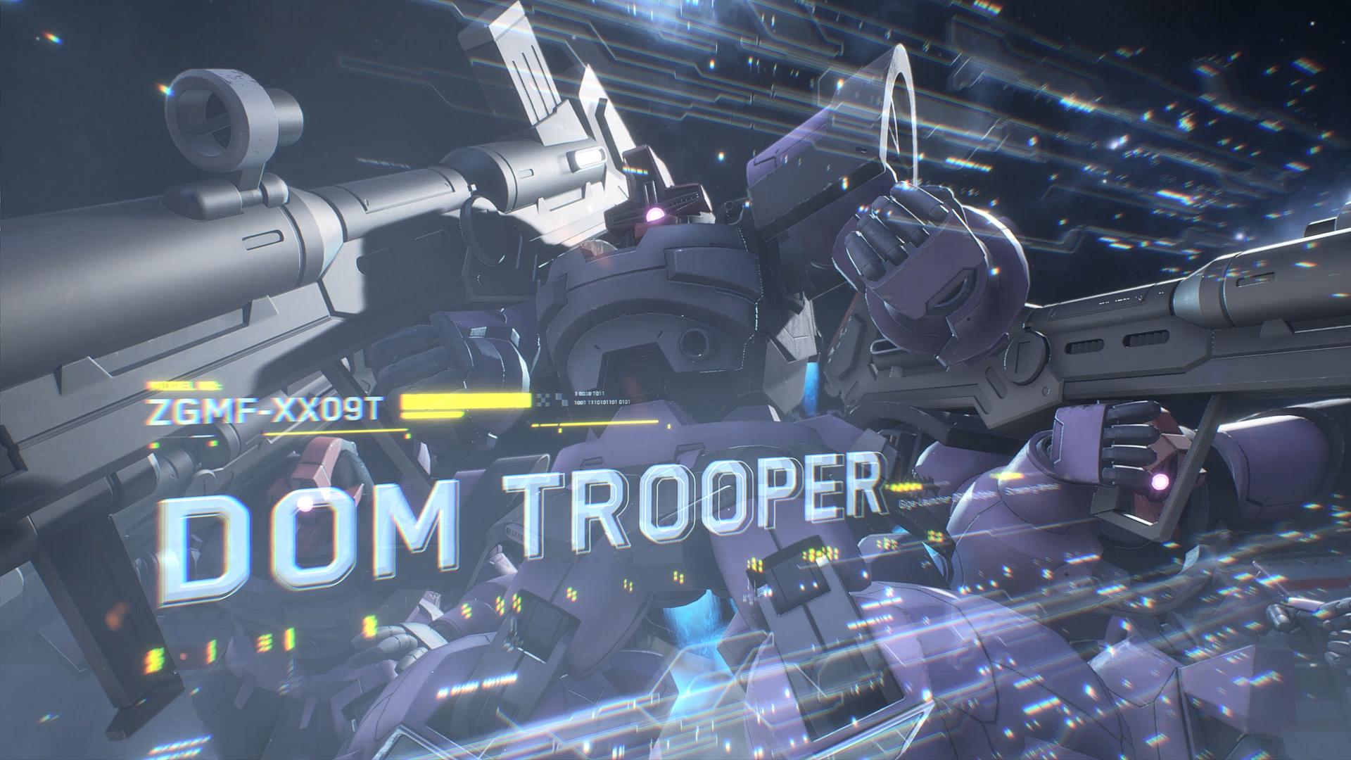 「機動戦士ガンダム SEED DESTINY」からはドムトルーパーが参戦。ビーム砲&バズーカの複合メインウェポンとホバリング推進が特徴