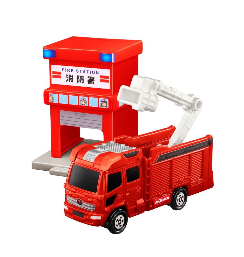 消防署&モリタ 13mブーム付多目的消防ポンプ自動車MVF