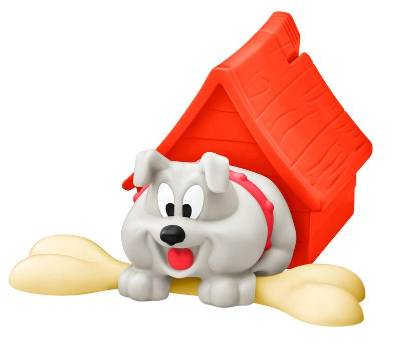スパイクの前に骨を置いてから屋根のボタンを押す。ボタンから指を離すと、骨を取ったスパイクが小屋に戻る