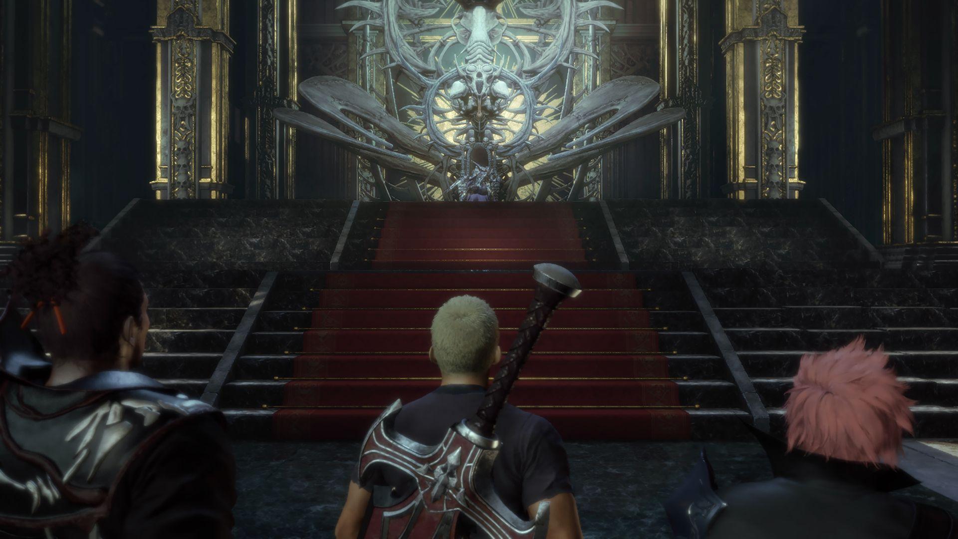 """神殿の玉座には、自らを""""カオスとなるもの""""と名乗る、鎧の男がいた"""