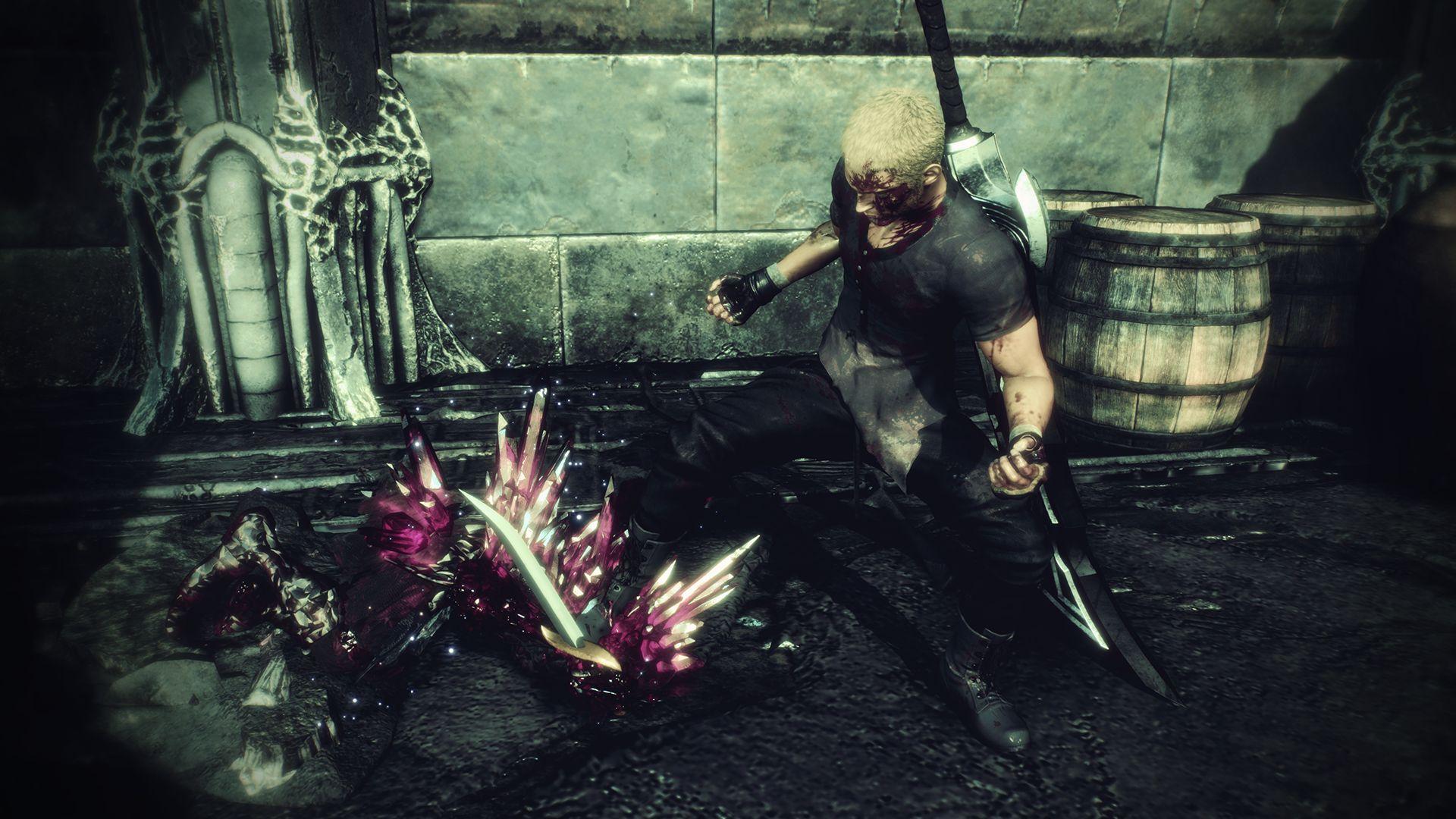 敵のブレイクゲージを削り切れば、「ソウルバースト」でとどめを刺すことが可能。敵は結晶化して砕け散り、ジャックのMPが少し回復する