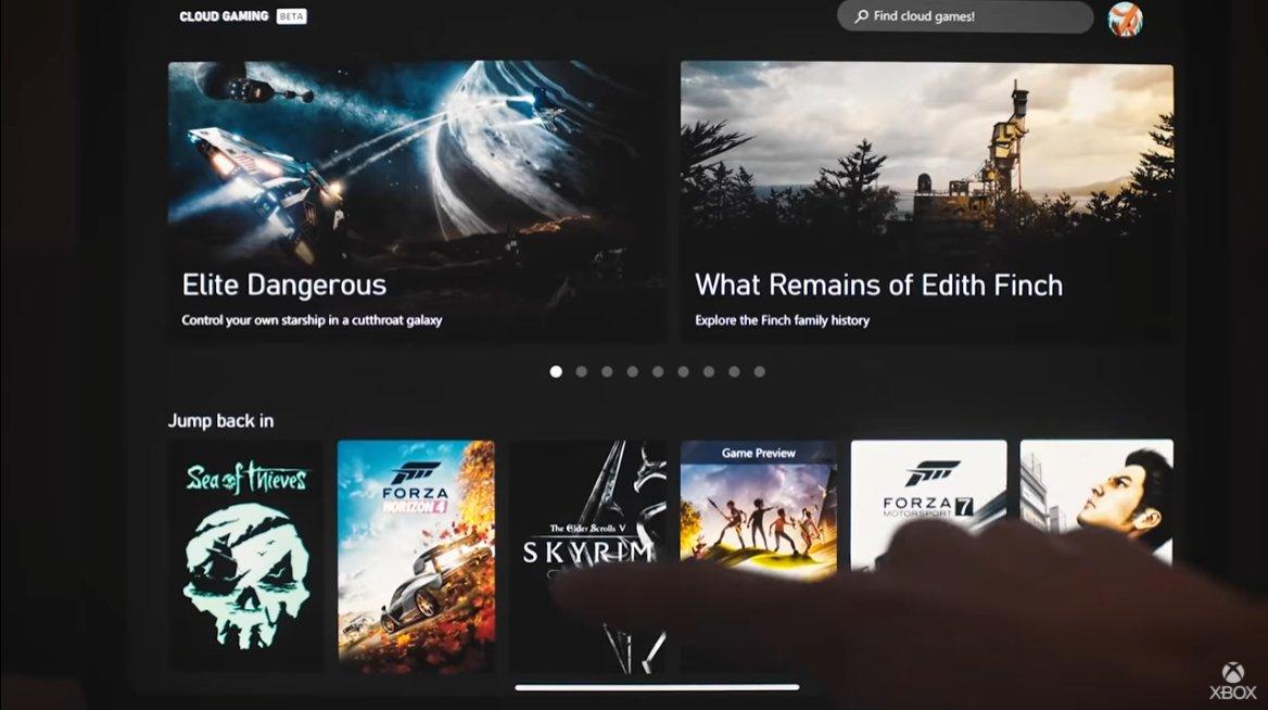 xbox.comからタッチ操作でプレイするゲームを選ぶ