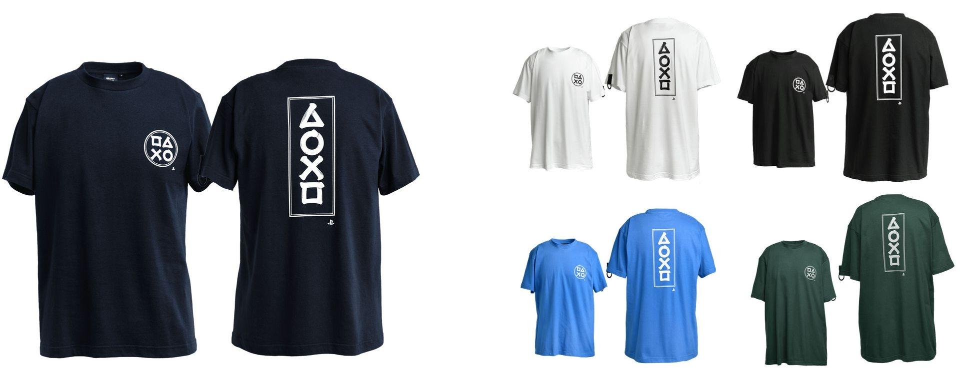 筆文字プリント TシャツB / PlayStation