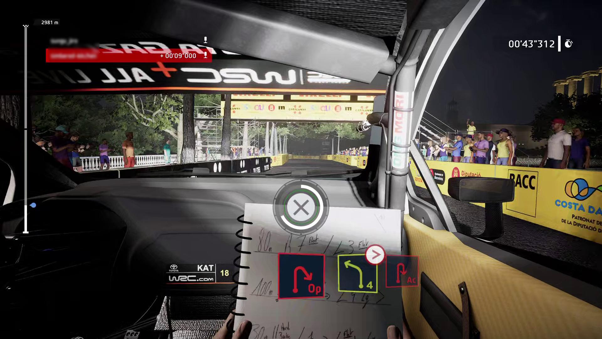 「コ・ドライバーモード」の様子(左:ドライバー、右:コ・ドライバー)Barcelona 2021