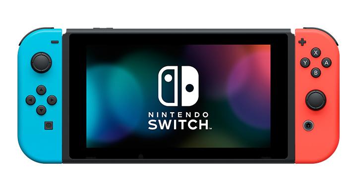 従来のNintendo Switch。有機ELモデルと比べて画面の縁が広いのがわかる