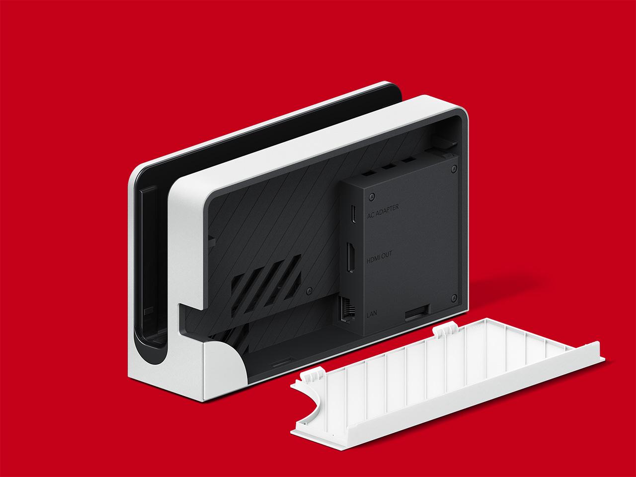 ドックに直接有線LANを挿せるように。なお背面カバーは取り外しできるようになった