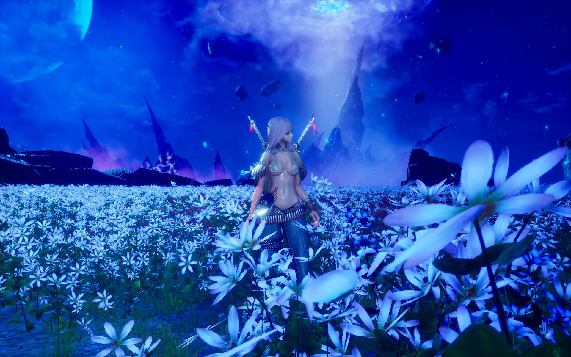 Unreal Engine 4により表現力が向上した「ブレイドアンドソウル」の世界。中でも「幸せの村」の花畑は息を呑むほど美しかった