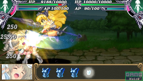 近衛隊長エリナの攻撃が、鋼鉄姫ユーミルを襲う