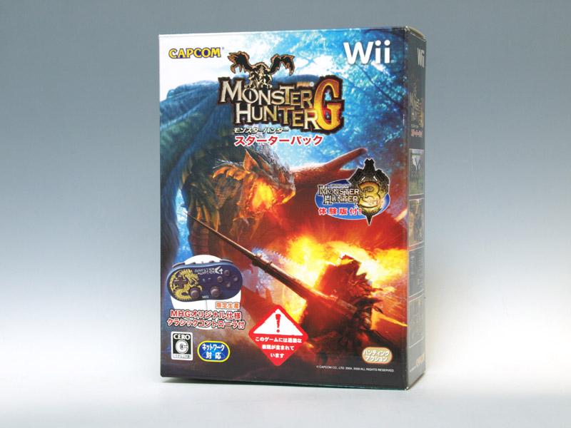 Wii「モンハンG」はクラシックコントローラ専用タイトル。ソフトとコントローラーがセットになったスターターパックもある