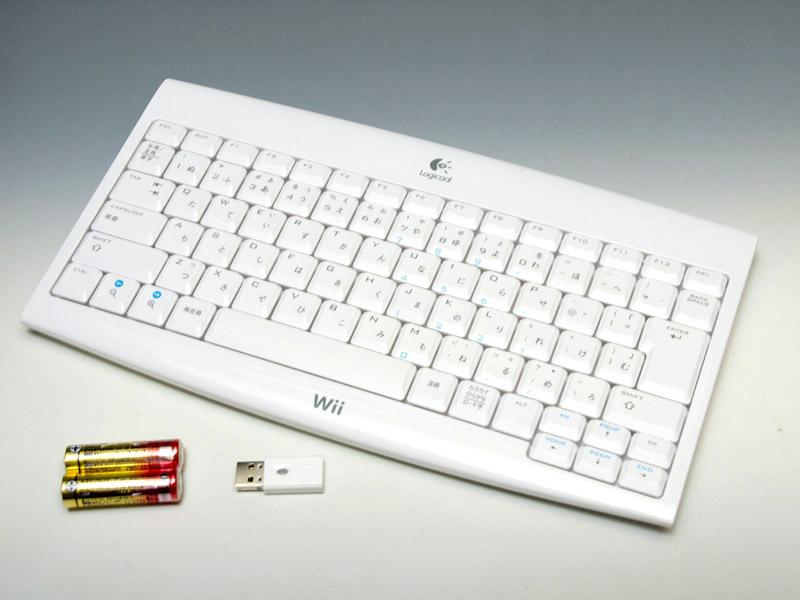 「ワイヤレスWiiキーボード」はUSB接続のワイヤレスキーボードだ