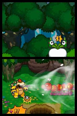 クッパが戦闘中に、敵キャラクターを吸い込むと……