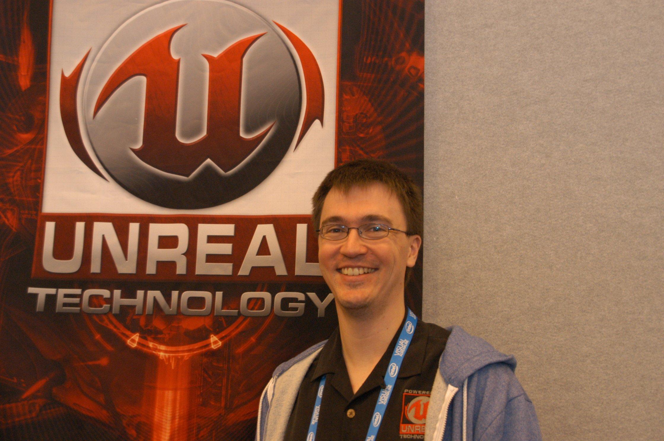 「UE3」の新機能について語ってくれたJames Golding氏(Epic Games、Senior Programmer)