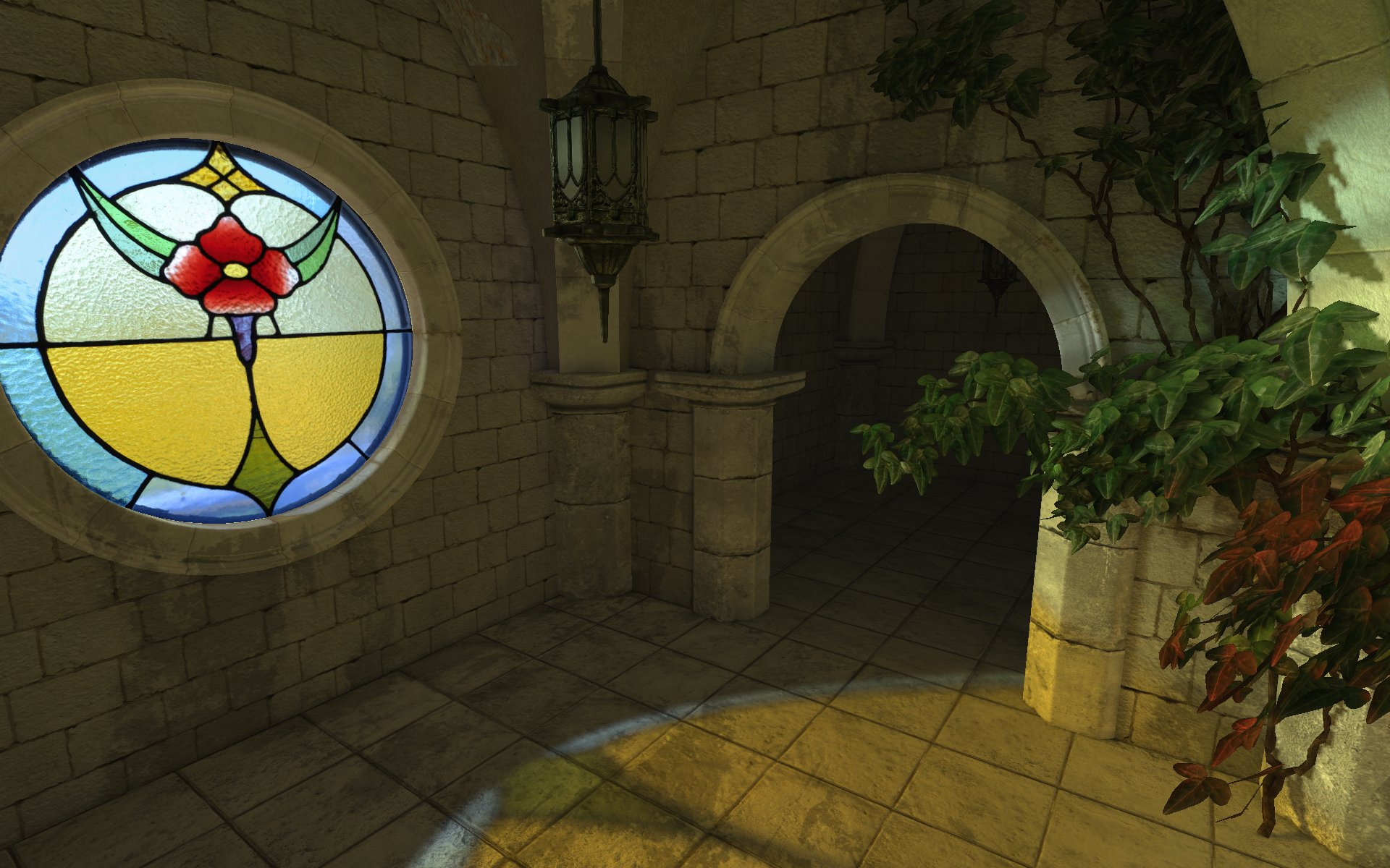 「Unreal Lightmass」は透過材質のGIにも対応する