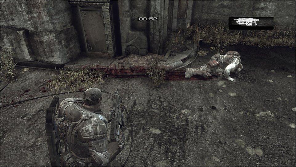 床の凹凸に的確に投射されている血痕