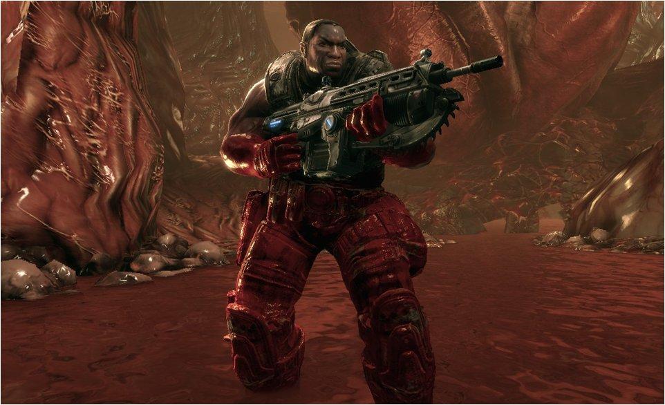 動的キャラクターにベットリ染みつく血液はスペシャルシェーダーによって実現されている