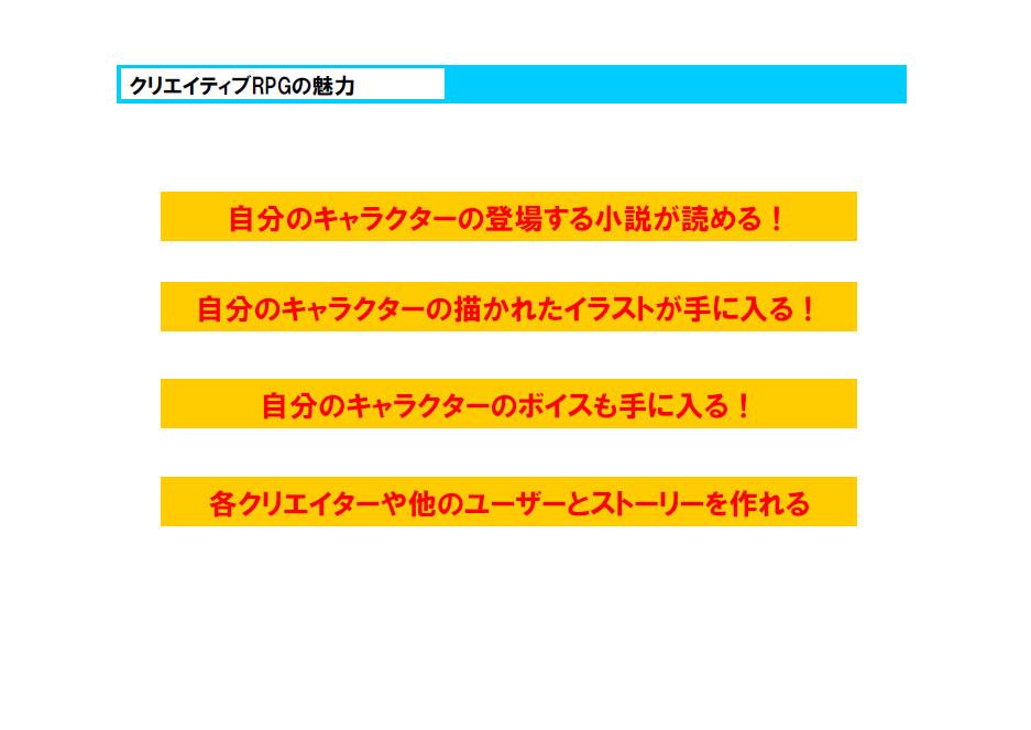 「蒼空のフロンティア」のサービス全体を図示したスライド資料(右)と、独特の魅力を箇条書きで示したスライド(左)