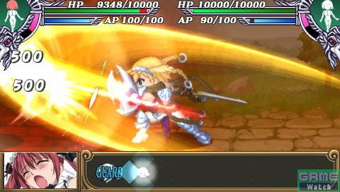 最初に行動選択をしているメインキャラクター(レイナ)が攻撃を仕掛ける