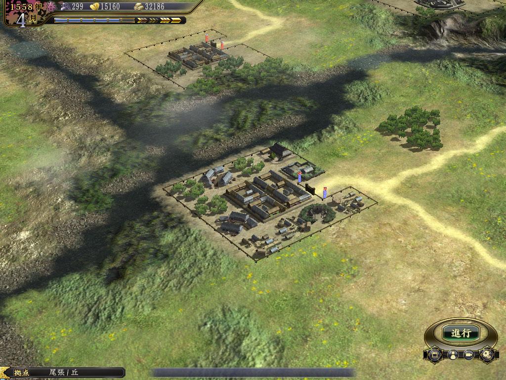 金銭を増やす「市」や、鉄砲を生産する「鍛冶場」などが建てられる集落「商人町」