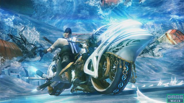 バイク(ドライビングモード)へと姿を変えたシヴァは、スノウとともに戦場を駆け抜ける!
