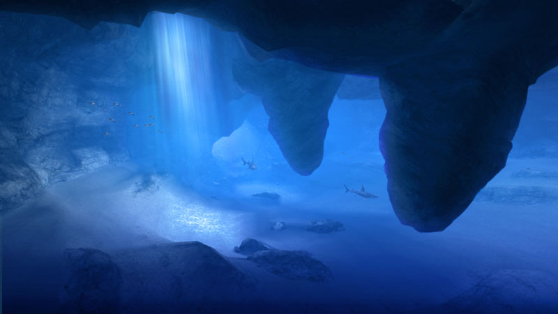 広大な海に浮かぶ絶海の孤島。海を一望できる切り立った崖や光の届かない洞窟が存在する。水中を泳げる場所もあり、そこには本作を象徴するモンスター「ラギアクルス」が生息している