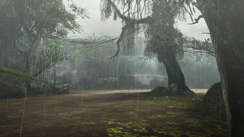 """熱帯の湿地に広がり、フィールドの大部分が浅い淡水に没している。また、上流から豊富な水が絶え間なく流れ込むため、点在する川や湖が枯れることはない。気温と湿度が高く、水棲のモンスターや地衣類、菌類や植物にとっては大いなる楽園である。通称""""灯魚竜""""と呼ばれる海竜種「チャナガブル」が生息する"""